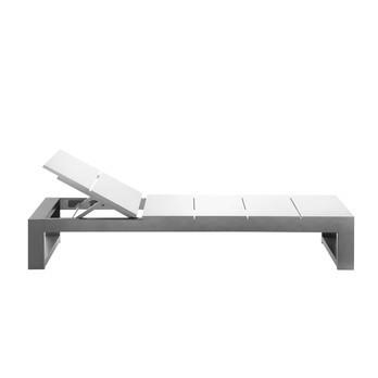 Gandia Blasco - Na Xemena Liege ohne Rollen - weiß/Gestell aluminium eloxiert/matt/200x70x30cm