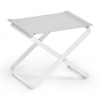 Weishäupl - Ahoi Hocker - hellgrau/BATYLINE® ISO/Gestell weiß/H x B x T: 46 x 56 x 42cm