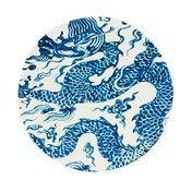- Blue China Teppich Ø250cm  - weiß