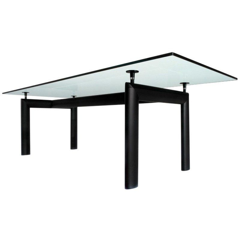Exceptional Cassina   Le Corbusier LC6 Table Cassina   Crystal Glass/225 X 85cm/frame