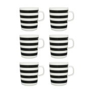 Marimekko - Oiva/Tasaraita Mug Set of 6