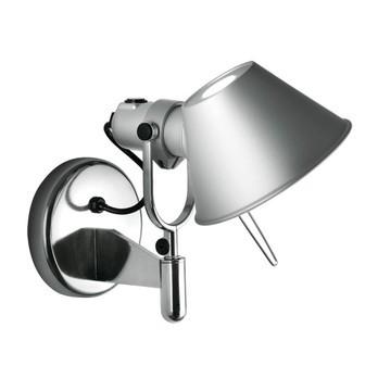 Artemide - Tolomeo Faretto LED Wandleuchte - aluminium/eloxiert/BxH 28x23cm/3000K/450lm/mit Schalter und Dimmer