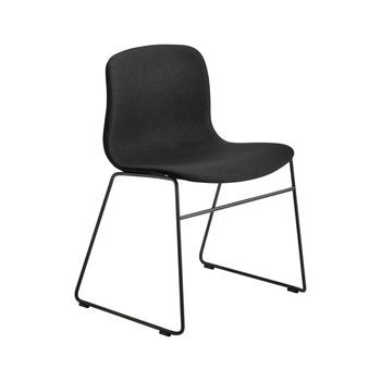 HAY - About a Chair 09 Stuhl Gestell schwarz - schwarz Steelcut 190/Gestell Stahl schwarz lackiert/H x B x T: 78 x 58 x 50cm/Gestell mit Kufen