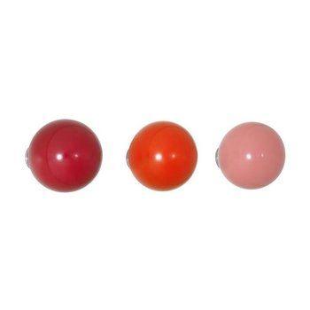 Vitra - Coat Dots Garderobenhaken 3er-Set - rot/Ø5cm/Tiefe 5-7,2 cm/inkl. Befestigungsmaterial