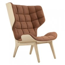 NORR 11 - Mammoth Lounge Chair Leather Natural Oak Base