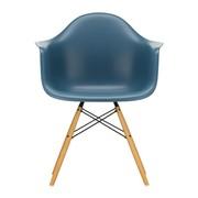 Vitra - Chaise avec accoudoirs Eames DAW érable doré
