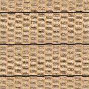 Woodnotes - Line Papier Teppich - natur/schwarz/Softcare Imprägnierung/mit Filzverstärkung / 1cm Baumwolleinfassung/300x200cm