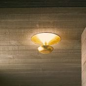 Vibia - Funnel Mini Wand-/Deckenleuchte - Blattgold