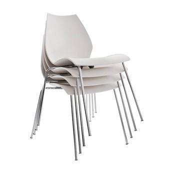Kartell - Maui Stuhl 4er Set - zinkweiß/Polypropylen/4 Stück
