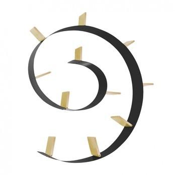 Kartell - Popworm 11 Regal - schwarz/gold