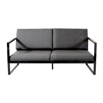 Röshults - Garden Easy 2-Sitzer Sofa  - dark taupe/Sunbrella/164x86x60cm/Gestell antrazit
