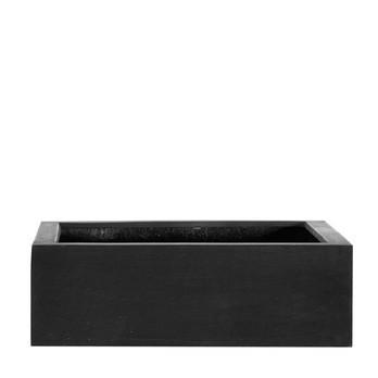 amei - amei Pflanzgefäß Der Quadratische M - schwarz/35x35cm