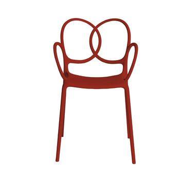 Driade - Sissi Armlehnstuhl - rot/matt/für Innen- und Außenbereich geeignet