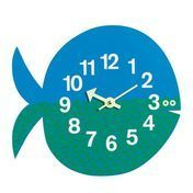 Vitra - Fernando the Fish Nelson Wanduhr - blau/grün