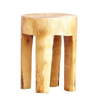 Jan Kurtz - Java - Tabouret ronde - bois de teck/chaque pièce est unique