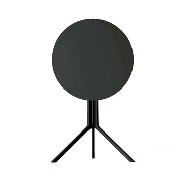 Kristalia - Poule Bistro Table round Ø 60cm - black/laminate/foldable/frame black RAL 9005