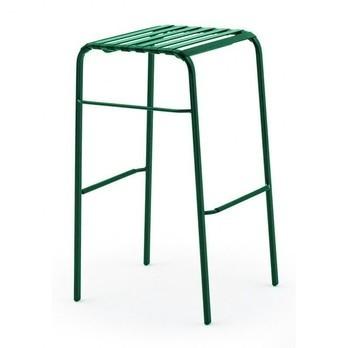 Magis - Striped Hocker 78 - grün/dunkelgrün/Stahl