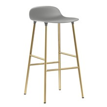 Normann Copenhagen - Form Barhocker Gestell Messing 75cm