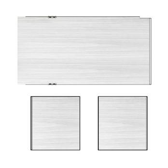 HAY - New Order Wandpaneel-Set 3tlg. für 200cm Breite - esche hellgrau gebeizt/2 Seitenwände/1 Rückwand/für Wandhängung/195x33cm