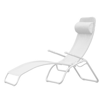 Jan Kurtz - Limited Edition Fiam Samba Sonnenliege - weiß/Kunststoffgewebe/LxBxH 142x63x107cm/Gestell aluminium pulverbeschichtet
