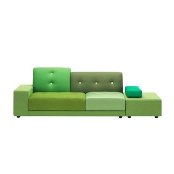 Vitra - Polder Sofa 260x97cm - Stoffmix grün