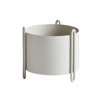 Woud - Pidestall Blumentopf - grau/H 15cm/Ø 15cm