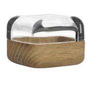 iittala - Vitriini Glass Display Box with Wood/Alu