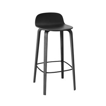 Muuto - Visu Barhocker H: 65cm - schwarz/lackiert/42.7 x 42.3cm