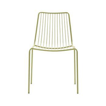 Pedrali - Nolita 3651 Gartenstuhl/ hohe Rückenlehne - salbeigrün