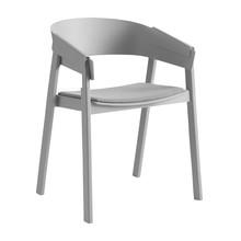 Muuto - Cover - Chaise avec accoudoirs capitonné
