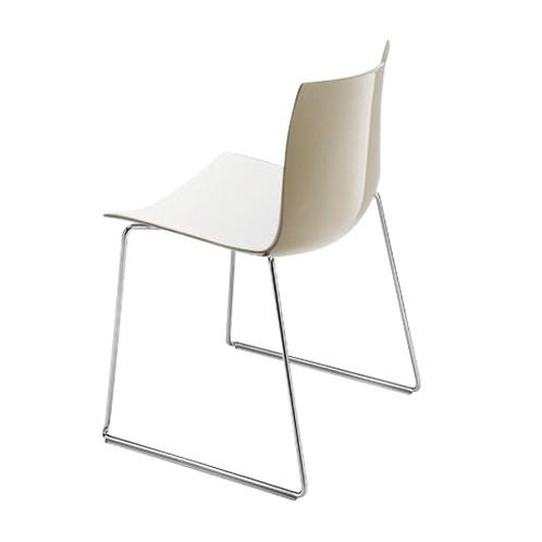 Catifa 46 0278 Stuhl zweifarbig Kufe Chrom