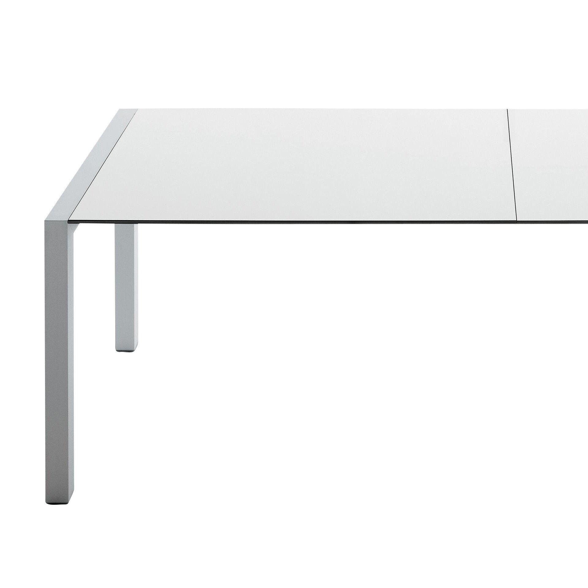 ... Kristalia   Sushi Tisch Ausziehbar   Weiß/Kante Schwarz/Laminat/Gestell  Aluminium/ ...