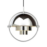 Gubi - Multi-Lite Suspension Lamp Ø32cm Frame Chrome