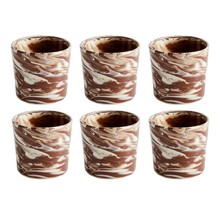 HAY - Set de 6 tasses Marbled