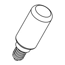 Flos - LED E14 TUBE 8W dimmbar