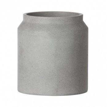 ferm LIVING - ferm LIVING Pot Betontopf/Gefäß klein - hellgrau/H 16cm/Ø 18cm
