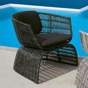 B&B Italia - Crinoline Small Armchair - black/bronze/meshwork/seat&back cushion Eletto black