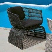 B&B Italia - Crinoline kleiner Sessel - schwarz/bronze/Geflecht/Sitz-Rückenkissen in Eletto schwarz