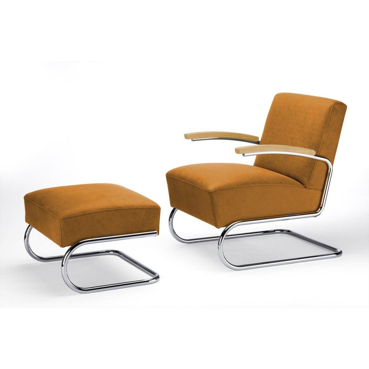 Sessel mit hocker modern m belideen for Sessel bunt mit hocker