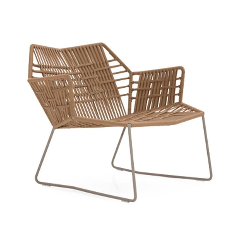 Moroso   Tropicalia Armchair   Light Brown/artificial Leather/PVC  Glides/frame Stainless