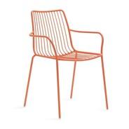 Pedrali - Chaise de jardin avec accoudoirs/dossier haut Nolita 3656
