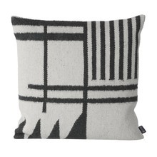 ferm LIVING - Kelim Black Lines Cushion