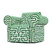 Moooi - Labyrinth Sessel   Ausstellungsstück - Original/grün/gebraucht/Einzelstück - nur einmal verfügbar!