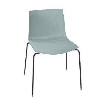 Arper - Catifa 46 0251 Stuhl einfarbig Gestell schwarz - petrol/Außenschale glänzend/innen matt/Gestell schwarz matt V39/neue Farbe