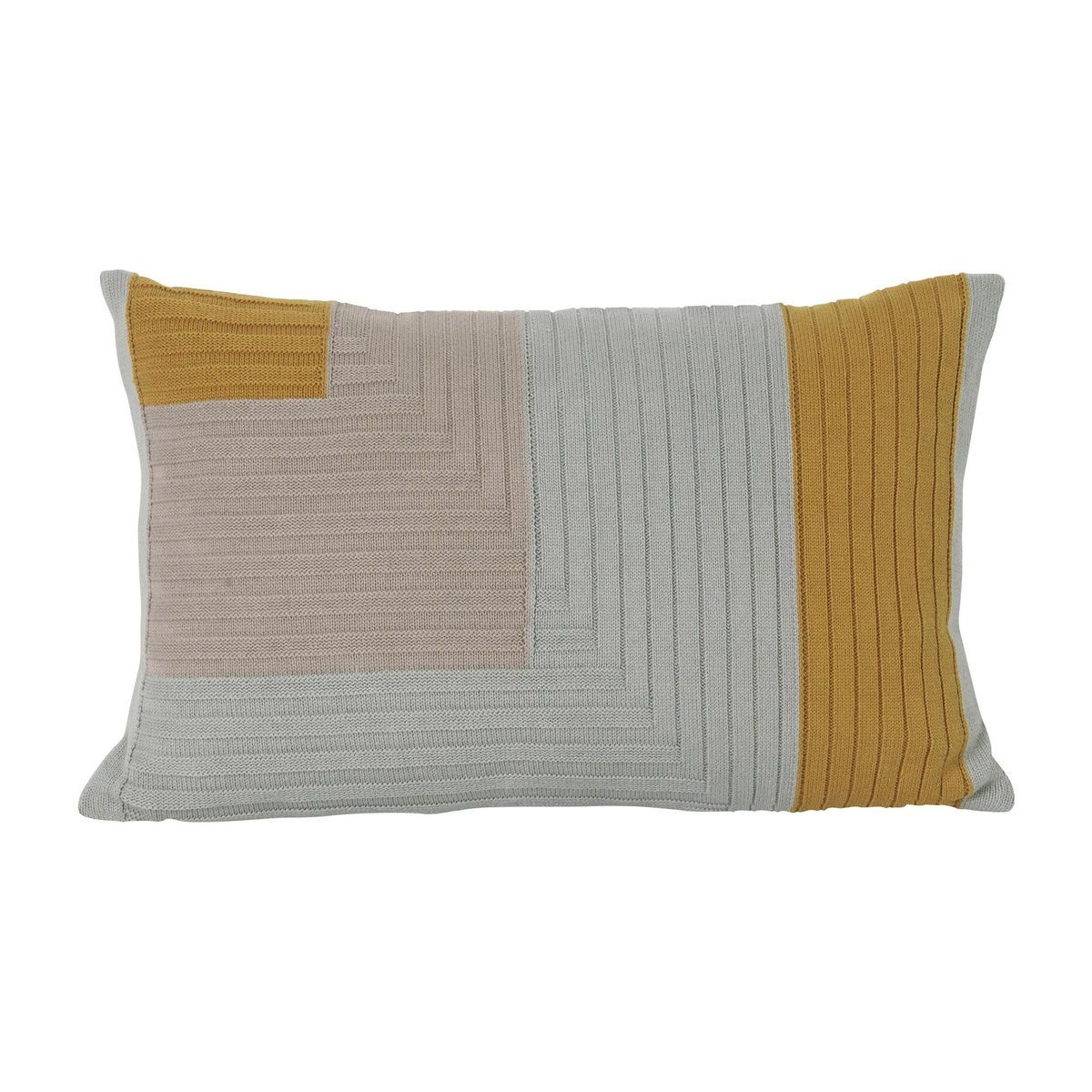 angle knit cushion 60x40cm ferm living. Black Bedroom Furniture Sets. Home Design Ideas