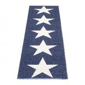 pappelina - Viggo Star Teppich 70x250cm - blau metallic/vanille