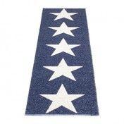 pappelina - Viggo Star Teppich 70x250cm - blau/vanille