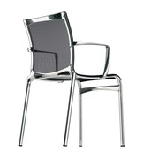 Alias - Chaise avec accoudoirs 440 Bigframe chromé