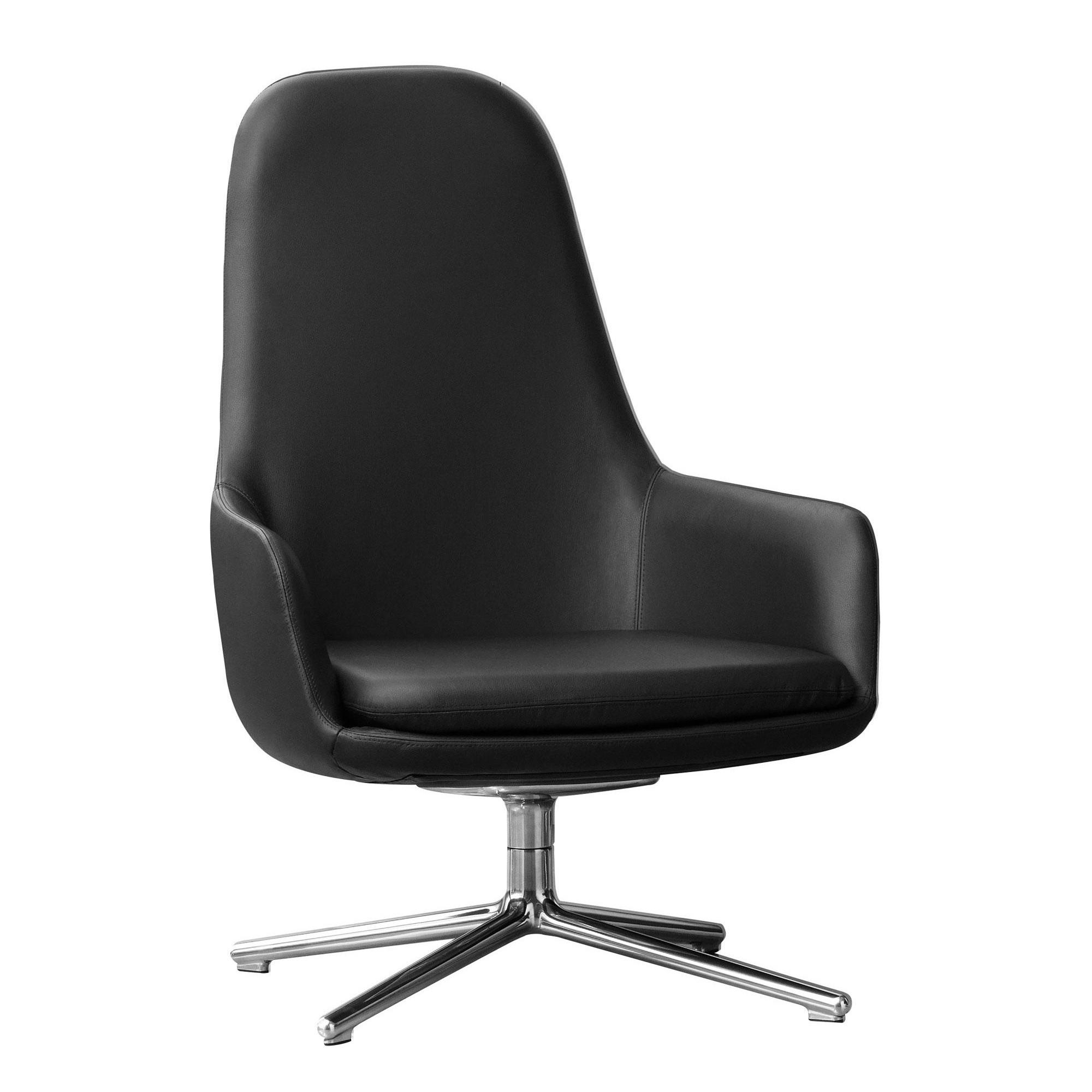 Era Lounge Chair High Swivel Chair Leather