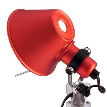 Artemide - Tolomeo Micro Pinza Klemmleuchte - rot/lackiert/BxH 16x20cm